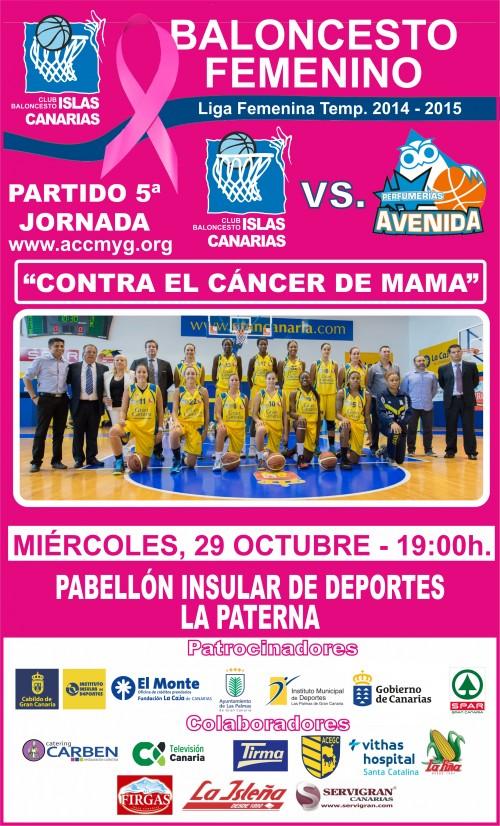 CARTEL CBISLAS CANARIAS 2014-2015 - 5º JORNADA CANCER DE MAMA (2)