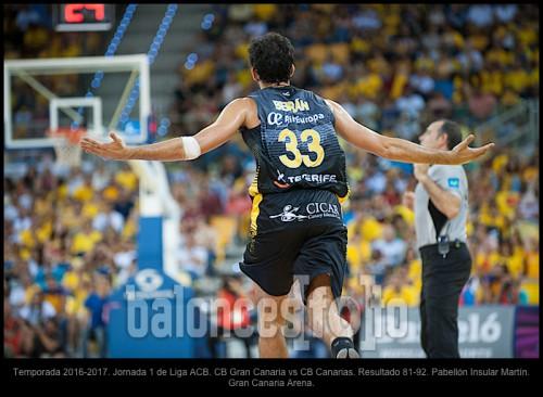 Temporada 2016-2017. Jornada 1 de Liga ACB. CB Gran Canaria vs CB Canarias. Resultado 81-92. Pabellón Insular Martín. Gran Canaria Arena.
