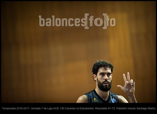 Temporada 2016-2017. Jornada 7 de Liga ACB. CB Canarias vs Estudiantes. Resultado 81-72. Pabellón Insular Santiago Martín.