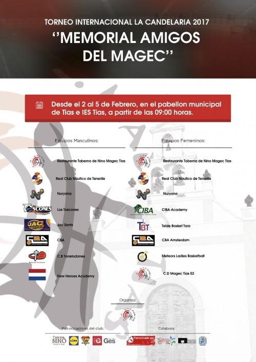 Cartel Torneo Internacional La Candelaria