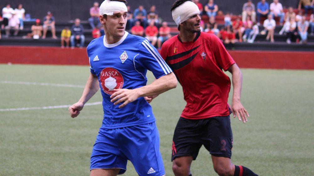 Orbegozo y Moreno lucen sendos vendajes tras un encontronazo.