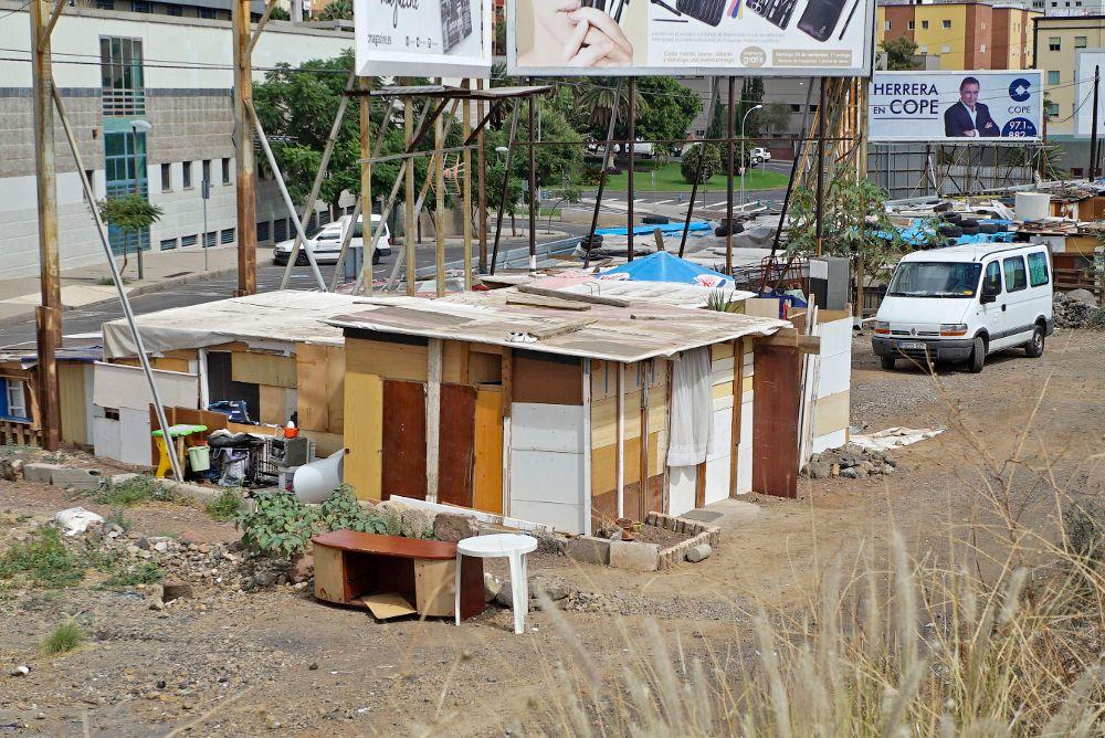 Chabolas en Santa Cruz de Tenerife.M. EXPÓSITO
