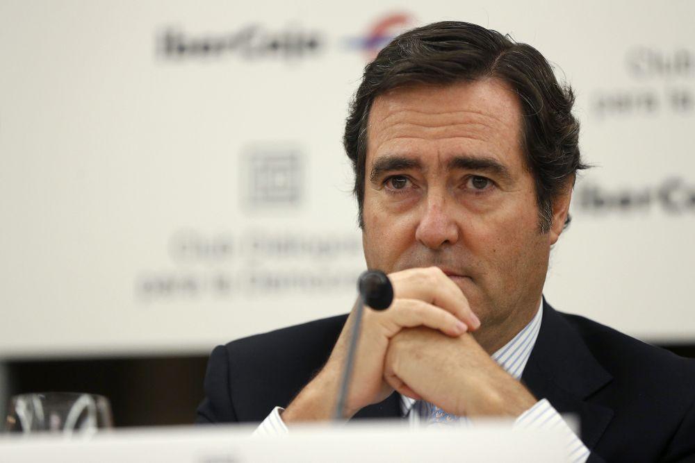 El presidente de Cepyme, Antonio Garamendi.