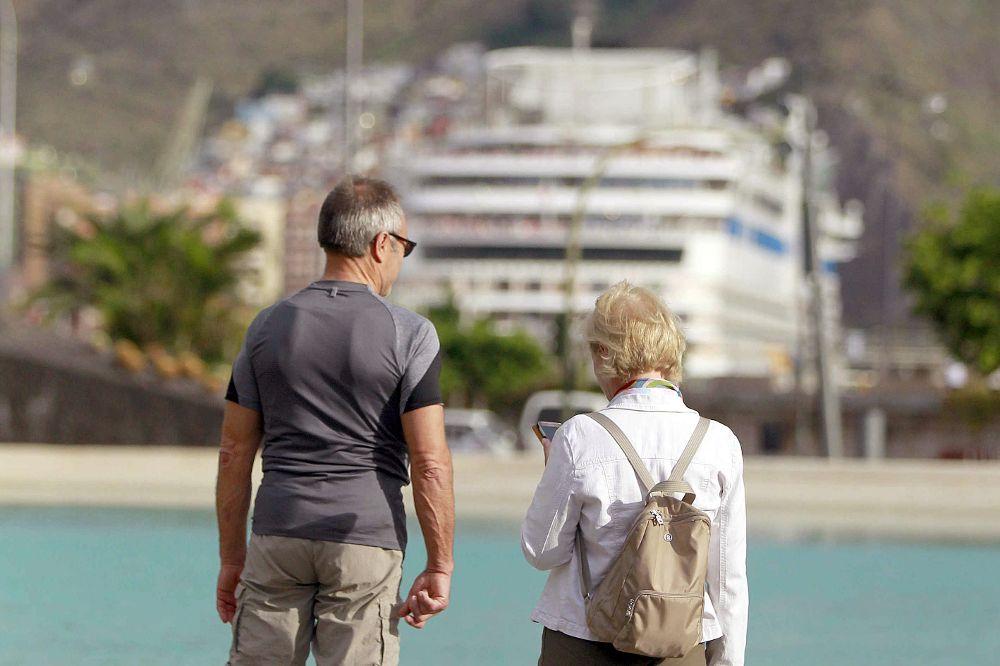 Turistas en Santa Cruz de Tenerife.