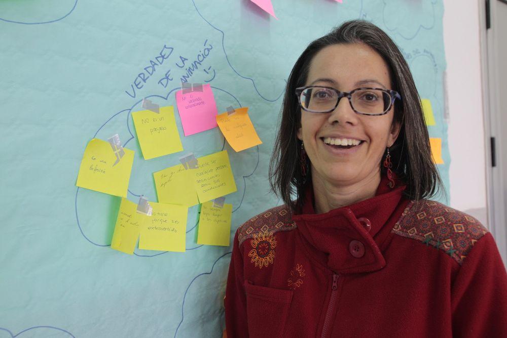 Lucía Quintero lleva 11 años dando clase en la escuela pública y tiene plaza definitiva en el IES Punta Larga desde hace un año.