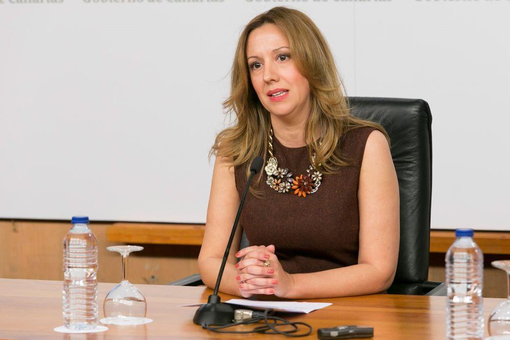 Rosa Dávila, portavoz y consejera de Hacienda del Gobierno de Canarias.