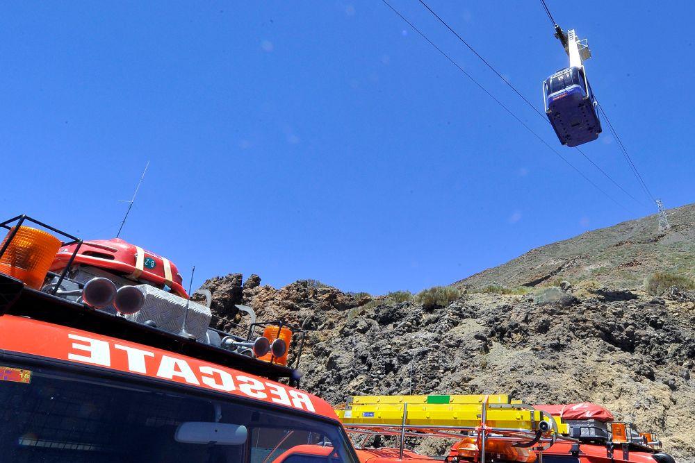 Una avería obliga a evacuar a 34 personas del Teleférico del Teide