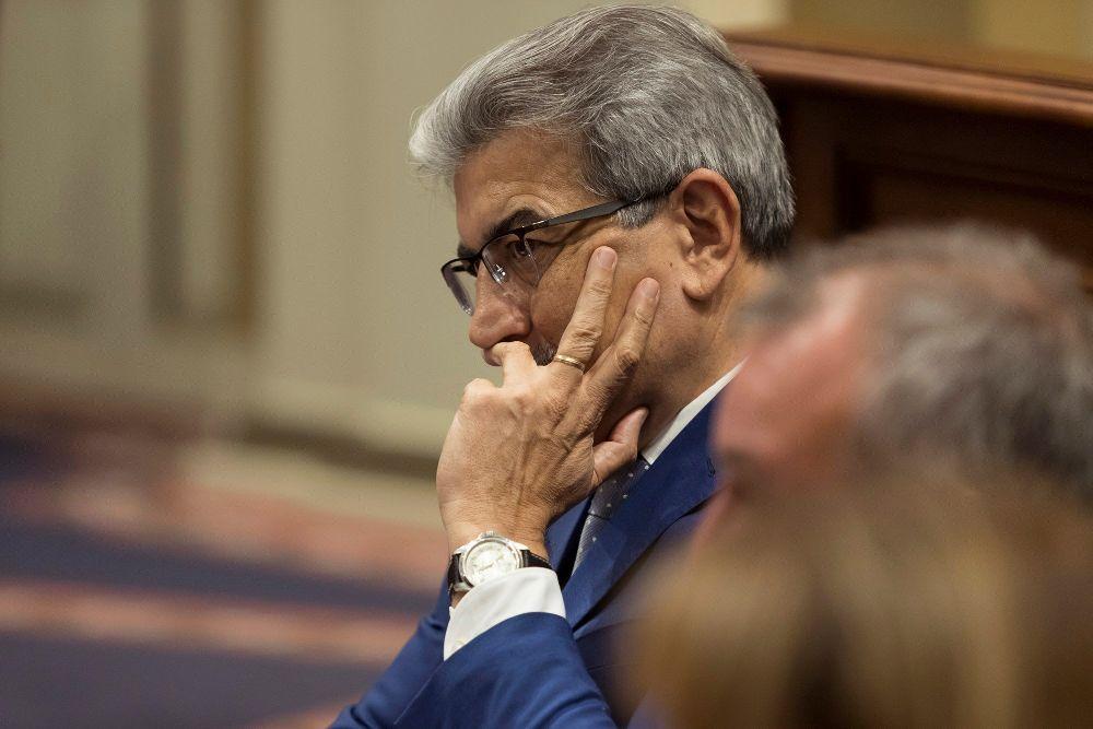El presidente del Grupo de Nueva Canarias, Román Rodríguez.