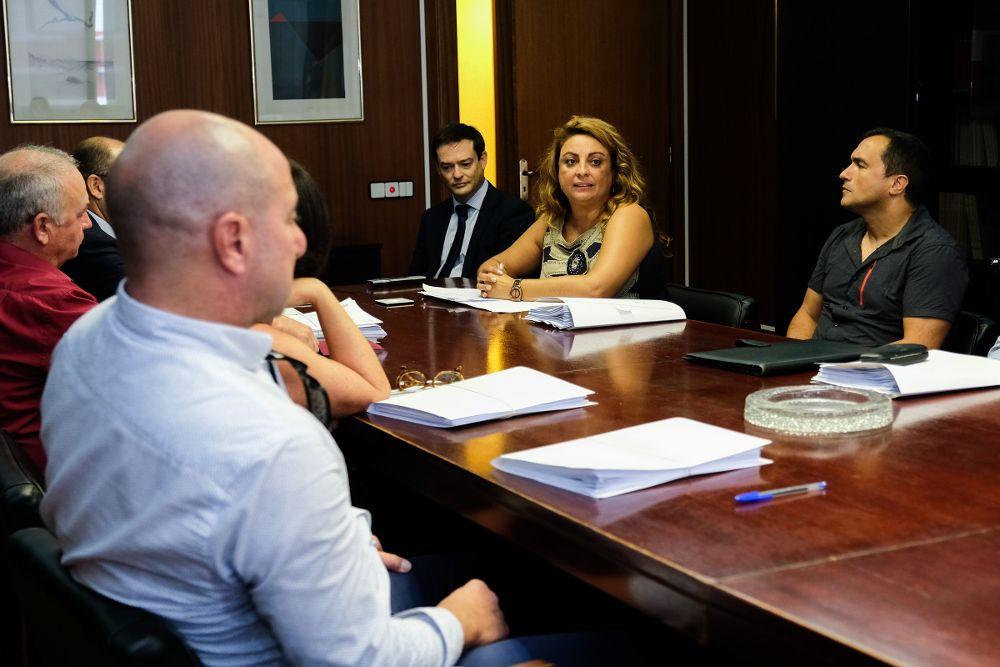 2018 Cristina Valido con los inspectores de trabajo.