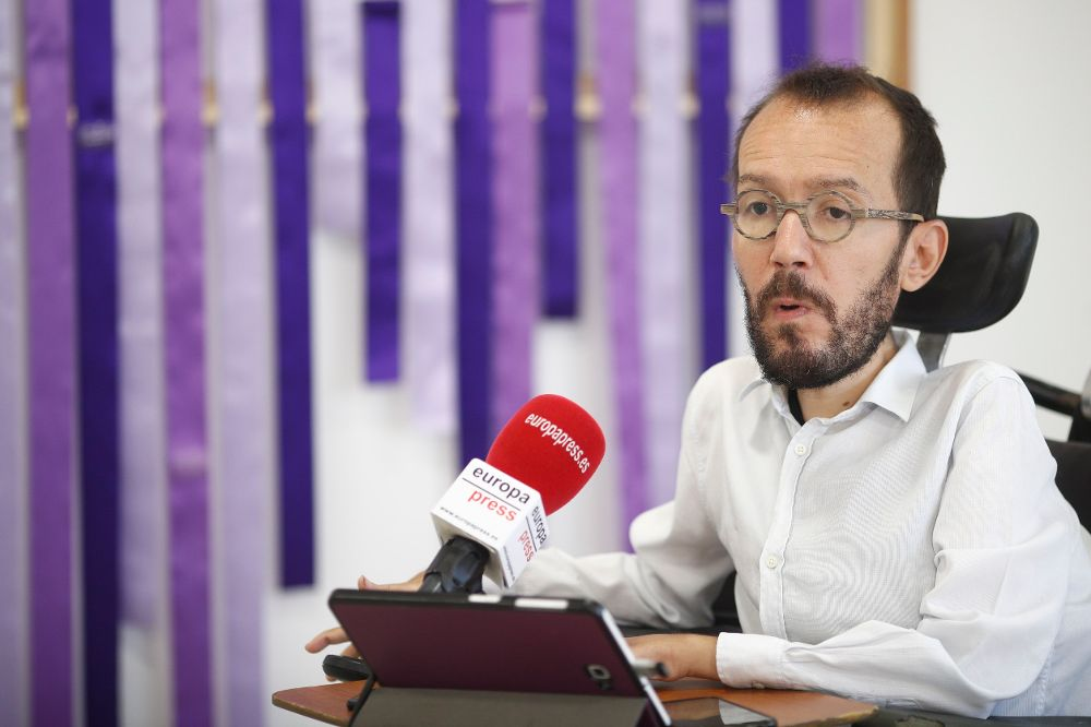 El secretario de Organización de Podemos y secretario general de Podemos en Aragón, Pablo Echenique.