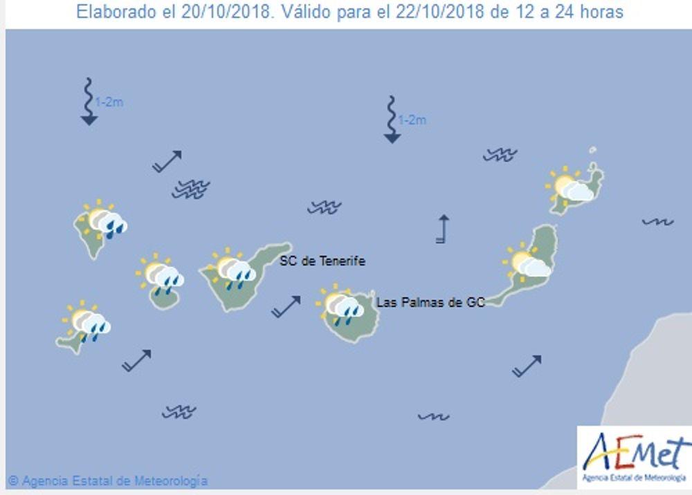 Las lluvias se trasladan hoy a Canarias y los avisos se reducirán a La Palma y A Coruña