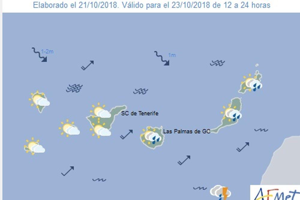 Las lluvias fuertes afectarán hoy a Canarias