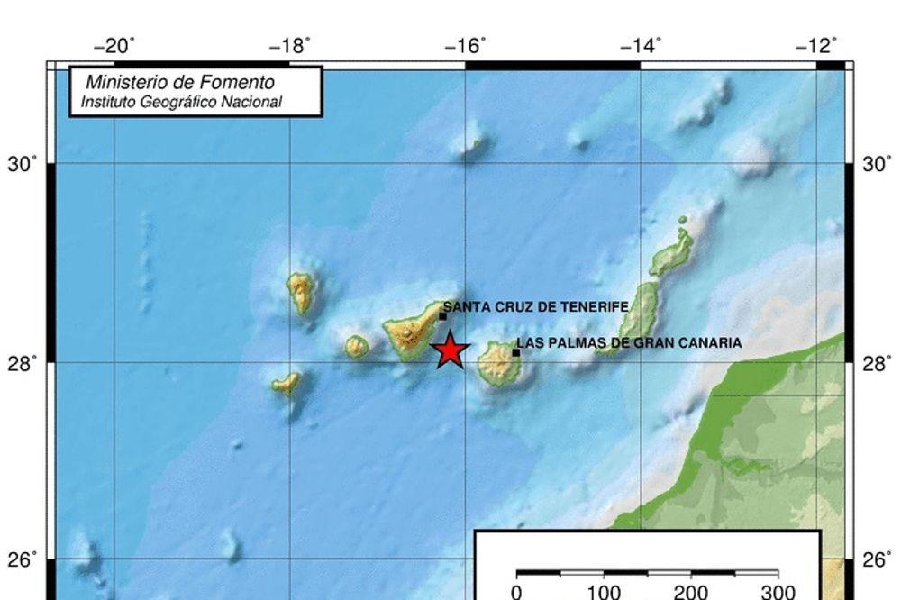 Gráfico donde se ve el terremoto de 4,2 sentido en Canarias este viernes.