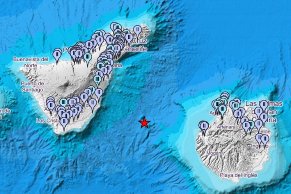 Un seísmo de magnitud 4,2 se deja sentir en 30 municipios canarios