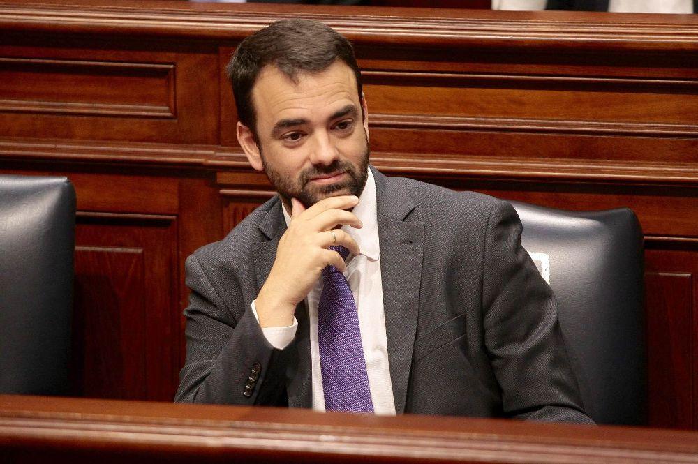 Aarón Afonso en una imagen de su etapa de consejero autonómico.