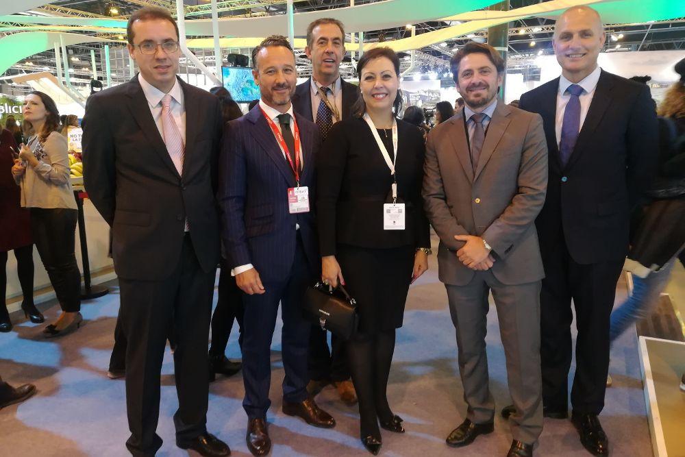 La delegación de Ashotel en Fitur.