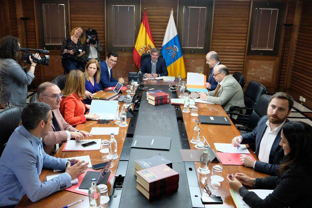 Reunión del Consejo de Gobierno, celebrado hoy en Gran Canaria.