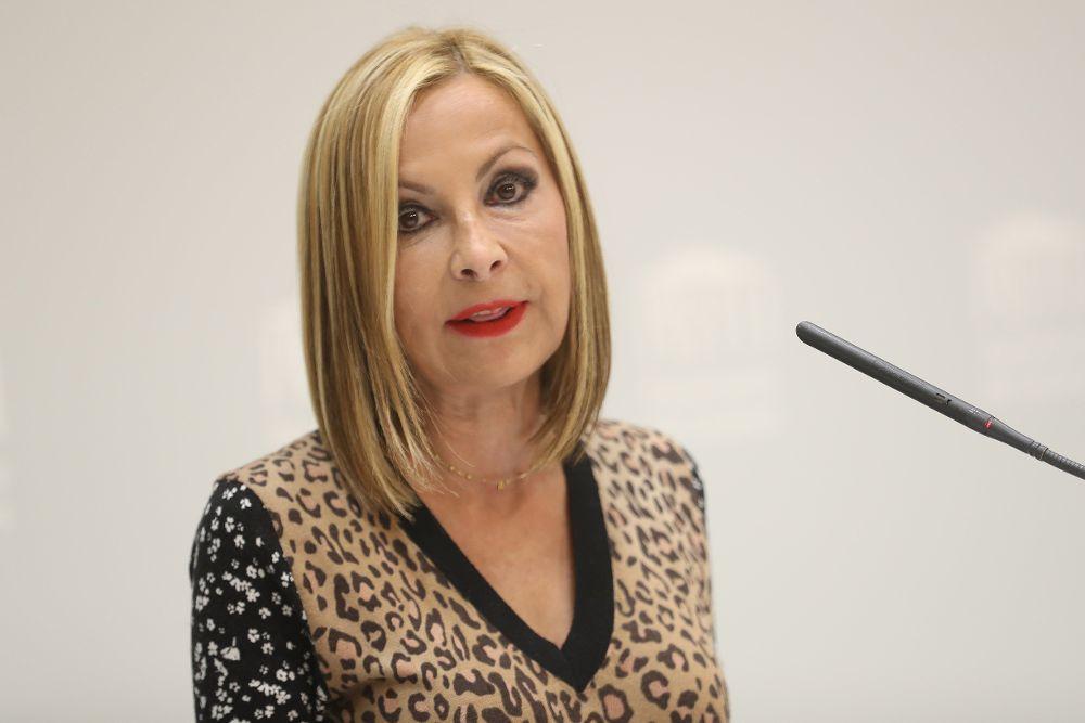 María Australia Navarro, al término de su intervención en el debate general sobre el estado de la nacionalidad canaria.