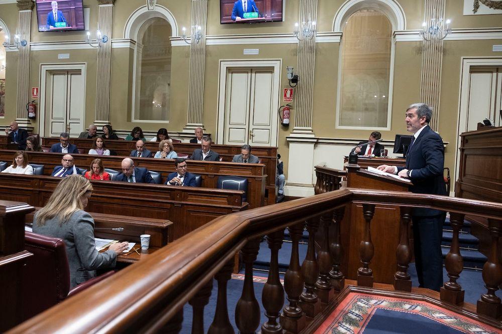 Fernando Clavijo interviene en el debate sobre el estado de la nacionalidad.