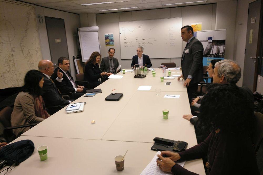 Reunión en Bruselas de la delegación canaria con la Dirección General de Asuntos Marítimos y de Pesca de la Comisión Europea.