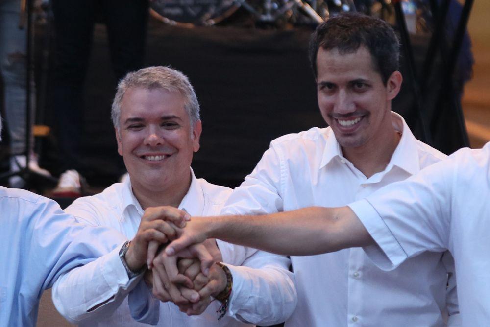 Iván Duque y Juan Guaidó.
