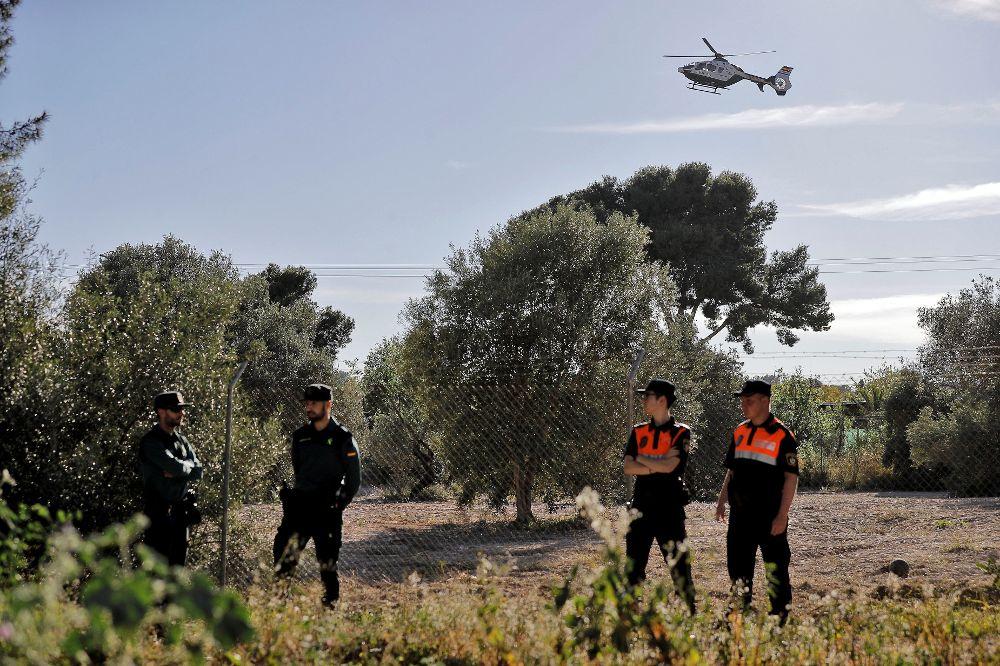 Operativo de búsqueda montado por la Guardia Civil.