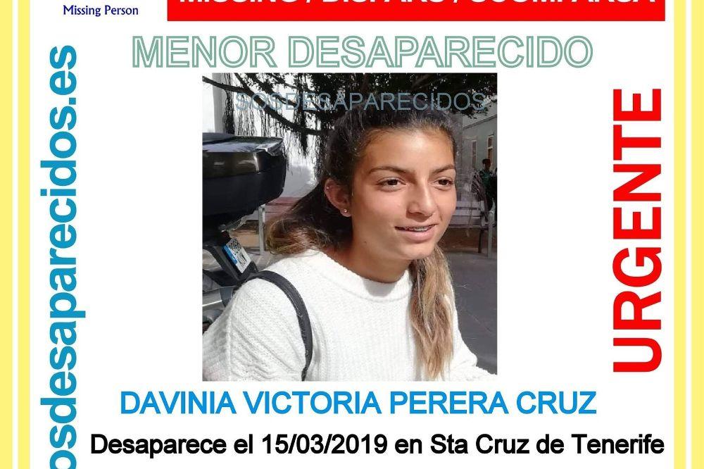 Desaparece una menor de 17 años en Santa Cruz de Tenerife
