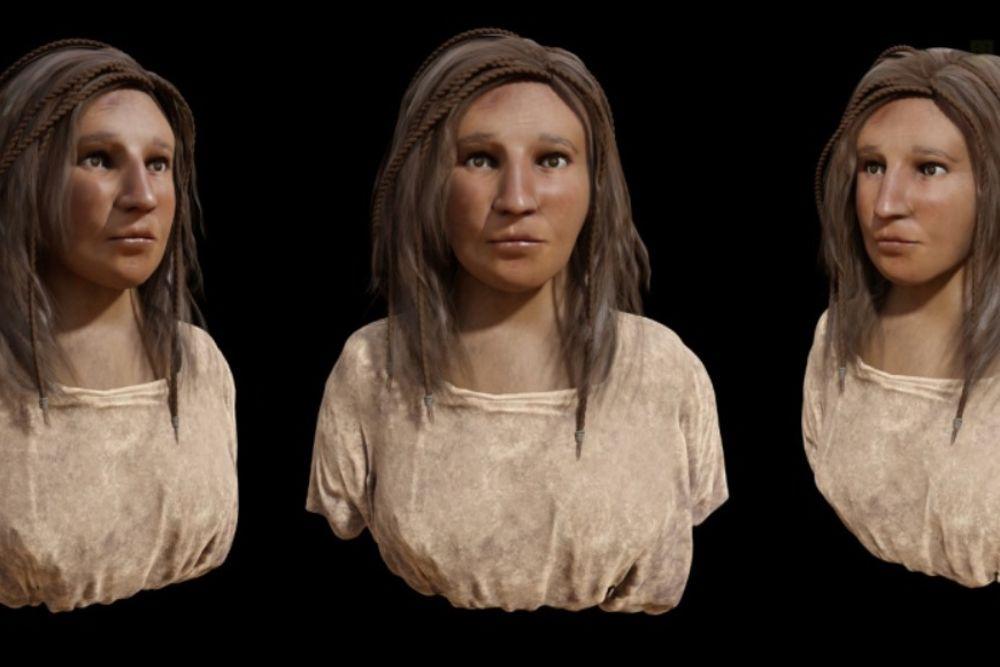 Recreación del rostro de una aborigen canaria a partir de un cráneo realizada por expertos.
