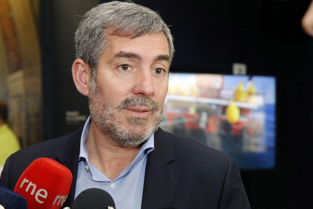 El presidente del Gobierno de Canarias, Fernando Clavijo, el pasado miércoles.